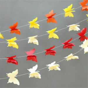 2.7m Colorful Butterfly Bunting Banner Hanging Wedding Party Garland Home Decor