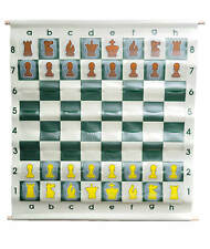 Pouch-Style Chess Demonstration Set with Deluxe Carrying Bag - Clear Plastic Pie