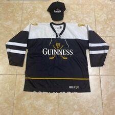 2002 Guinness Hockey Jersey Black White & Gold And Black Guinness CapUltra Rare