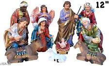 "Nativity Set 11pcs 12"" / Nacimiento Navideno Set completo 11pc"