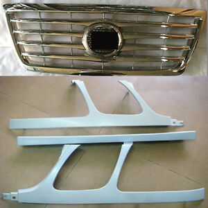 4x For Lexus Lx470 1998-07 Front Upper Grille &Headlight Cover Trim Frame Primer