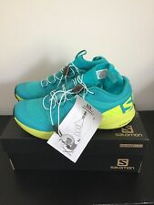 Salomon Womens XA Enduro Shoes UK 4 CERAMIC/LIME