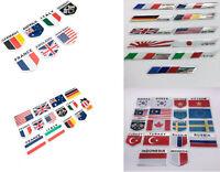 Aufkleber Metall 3D selbstklebend Schriftzug Wappen Logo Emblem Flagge Sticker