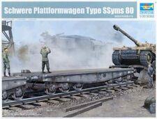 Schwere Plattformwagen Type SSyms 80 Plastic Kit 1:35 Model TRUMPETER