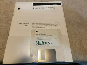 Apple Macintosh System 7 Tune-Up Disk in Original Mint Package