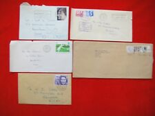 5x POSTALLY USED ENVELOPES WITH GB STAMPS FROM THE 1970s ~ POSTAGE DUE ~ ROYALTY