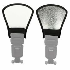 Durable Silver & white Universal  Flash Speedlite Reflector Bounce Card Diffuser