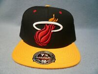 Mitchell & Ness Miami Heat 2-Tone FITTED BRAND NEW cap hat NBA Multiple Sizes