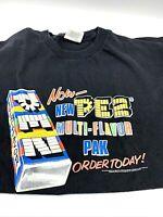 PEZ Candy T Shirt 2002 Print Alstyle  Heavyweight Cotton Glow In The Dark