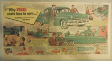 """Ford  Ad: """"Ford Costs Less To Own""""  from 1950's"""