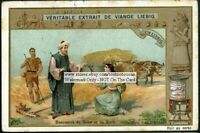 Booz Meeting Ruth Holy Bible Story c1905 Trade Ad Card