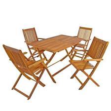 Gartenmöbel Akazie Sitzgruppe Holz Essgruppe Sitzgarnitur 5-tlg Gartengarnitur