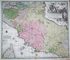 Stato Pontificio Roma Siena Lucca Firenze Bologna Italia carta map Seutter 1730