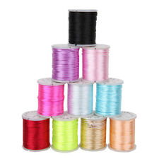 10 Rolls Nylon Waxed Jewelry Cord Line Wire For Jade Beads Necklace 1mm
