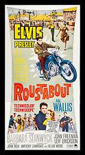 ROUSTABOUT CineMasterpieces ORIGINAL ELVIS PRESLEY BIKER MOTORCYCLE MOVIE POSTER
