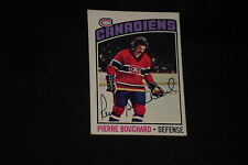 PIERRE BOUCHARD 1976-77 O-PEE-CHEE SIGNED AUTOGRAPHED CARD #177 CANADIENS