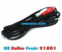 16ft 3.5mm Mini Plug to 2 RCA Male Stereo Audio Cable