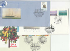 Stamps Australia group of 45 FDC's & PSE's all with ship commemorative postmark