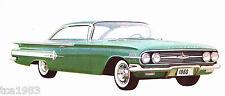 1960 Chevrolet Chevy Full Line Dealer Auto Brochure
