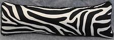 Pillow made w Ralph Lauren Rodeo Drive Zebra Black & White Fabric 24x8 trim cord