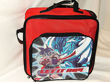 NEW RARE BEYBLADE LUNCHBOX BAG SCHOOL BACKPACK RED toy bag