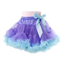 Gilrs LILAC & TEAL BLUE TUTU Ballerina Ballet Poof Skirt Child Costume One Size