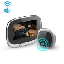 Wi-Fi Digital Peephole Door Viewer Camera Doorbell with Motion Detection