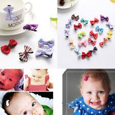 10 PCS Kids Baby Girls Ribbon Bow Hair Pin Hair Clip Mini Bowknot Clips Hairpins