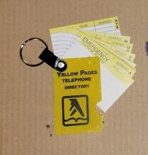 Vintage 3 Dozen Yellow Page Telephone Directory Key Ring Keychains Collectibles