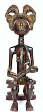 MATERNITY. CARVED WOOD. CULTURE ASHANTI. GHANA. FIRST HALF OF THE 20TH CENTURY
