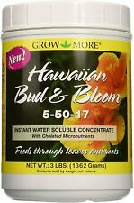 Grow More Hawaiian Bud & Bloom Water Soluble Fertilizer Concentrate 5-50-17 3lb