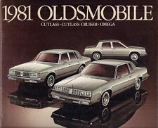 Oldsmobile Omega & Cutlass 1981 USA Market Sales Brochure