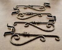 Cast Iron Swing Arm Curtain Rod Holdback Tie Back Hold Back Victorian
