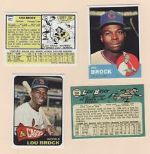1963  1965  REPRINTS GOD BLESS LOU BROCK CHICAGO CUBS TRADED TO ST. LOUIS