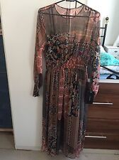 Zara Womens Patchwork Style Print Midi Dress BRAND NEW SIZE MEDIUM SOLD OUT