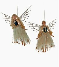 """Katherine's Collection Set Of 2 Poseable 18"""" Celestial Fairy Hanging Ornaments"""
