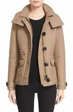 NWT BURBERRY BRIT NEALSBROOKE Hooded Quilted Parka Jacket TAUPE size XL