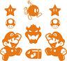 9 x Sticker Vinilo - Mario Collection - Pegatinas Vinyl Aufkleber Bartop Arcade