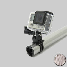 90 ° GRIGIO/GREY SMALL GoPro HERO BICICLETTA BIKE skipole Handlebar Mount supporto