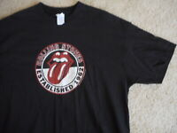 Rolling Stones 2XL Mens T Shirt Lips tongue Black rock band