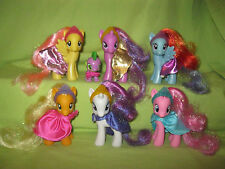 My Little Pony G4 FiM CANTERLOT ROYAL BALL Lot THE MANE SIX Crowns Capes &SPIKE