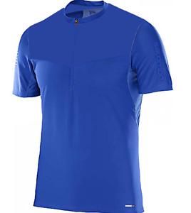 Salomon Men's Fast Wing HZ Short Sleeve Running Shirt Medium