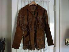 vintage 1960's suede fringe hippie jacket