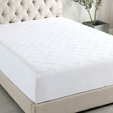 Fitted Mattress Pad Thick Mattress Cover protector Deep Pocket Stretch All Size