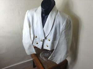Gieves 1951 British Royal Navy Officer White Tropical Mess Dress Jacket Tunic#25