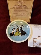 Newell Pottery Rockwell on Tour Collector Plate Promenade A Paris with Coa & Box