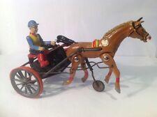 Arabian Trotter Race Horse And Jockey By DGM Germany (ref Gr 911) Wind Up, Metal