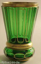 Trofeo vaso cristal verde lima con oro con facetas