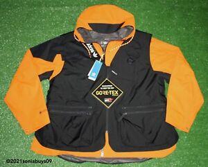 Adidas Men's 3-in-1 Gore-Tex Fishing Jacket, GE4352, Unity Orange/Black, Size XL