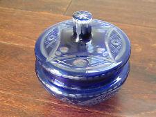 Ajka Hungary Design Centerpiece Cobalt Blue Candy Dish Jar